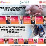 Cartel de los diálogos de asistencia personal con los nombres y las fotos de los/as participanes