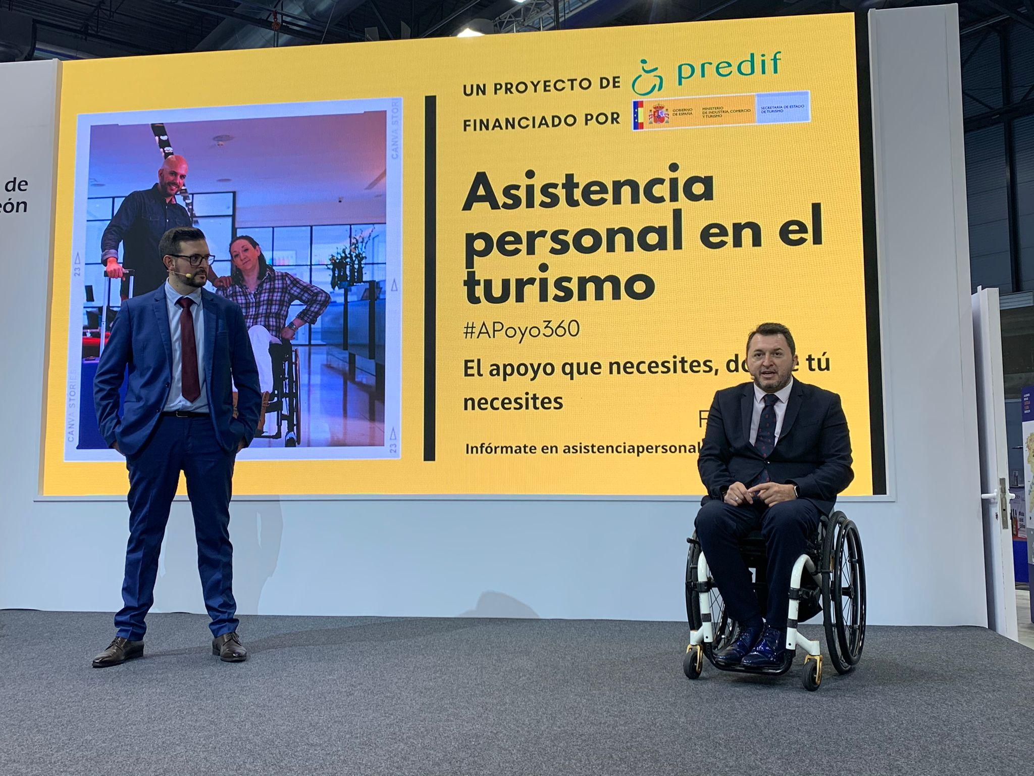 Miguel Carrasco y Francisco Sardón en la presentación del proyecto de asistencia personal en el turismo