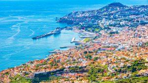 Vista aérea de Madeira